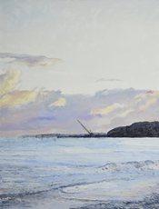 Hugues Claude PISSARRO - 绘画 - La Rade de Courtown, Le Soir