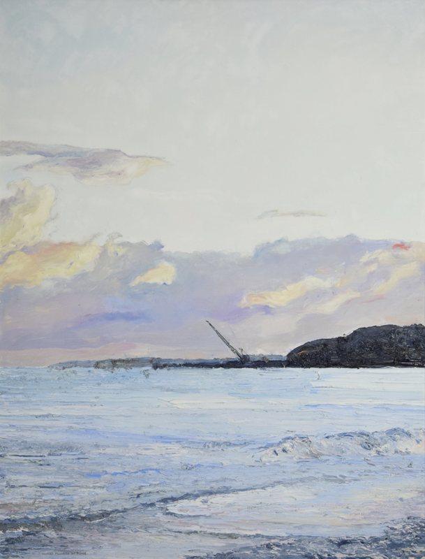 Hugues Claude PISSARRO - Painting - La Rade de Courtown, Le Soir