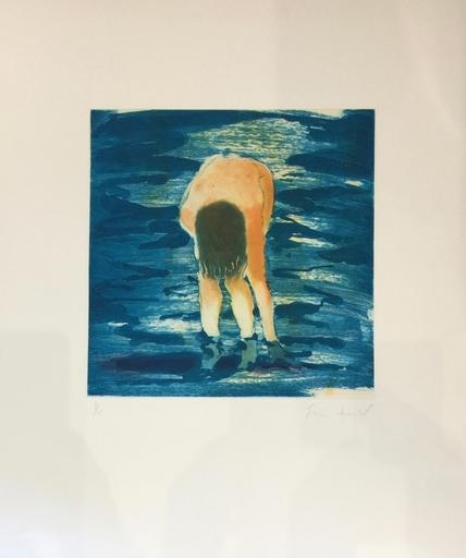 艾瑞克·费舍尔 - 版画 - Boy in Blue Water