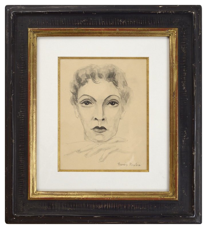 Francis PICABIA - Drawing-Watercolor - Tete de Femme