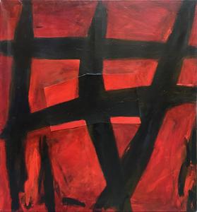 Gianfranco NOTARGIACOMO - Painting - Rosso d'Oriente 2, 1989