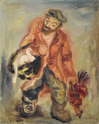 Issachar Ber RYBACK - Painting - Poultry Seller