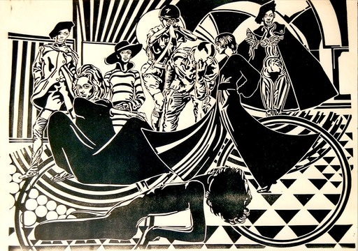 Didier ANGELS - Estampe-Multiple - 1968 E émancipation de la femme