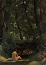 Nikolai Petrovich KRIMOV - Painting - In The Forest