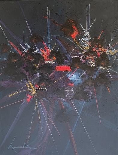 Georges MATHIEU - Gemälde - Cieux de braise