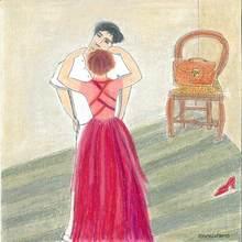 """Reine BUD-PRINTEMS - Dessin-Aquarelle - Le Cartable - série """"les danseurs"""""""