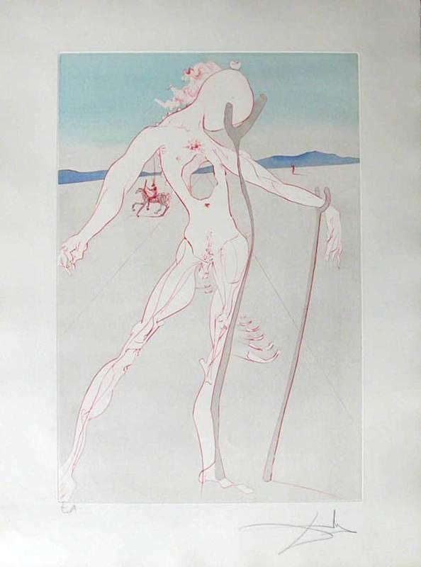 Salvador DALI - Print-Multiple - Homage to Medicine - Vesalius