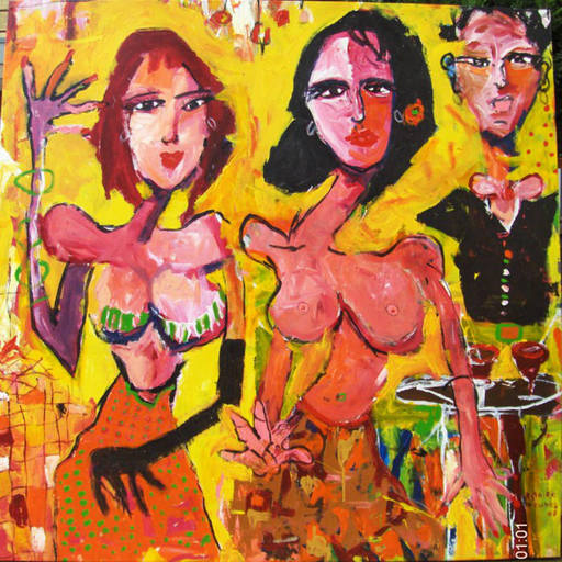 Astolfo FUNES - Painting - MOSSO CON CHICAS