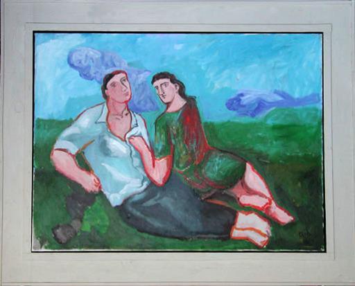 Sandro CHIA - Pintura - Amanti