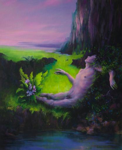Guillaume MONTIER - Painting - « Au creux des lombes l'Épousée »