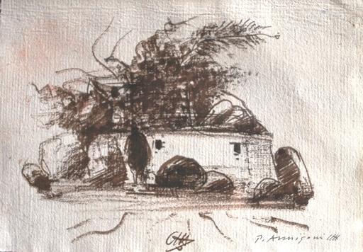 Pietro ANNIGONI - Disegno Acquarello - Paesaggio