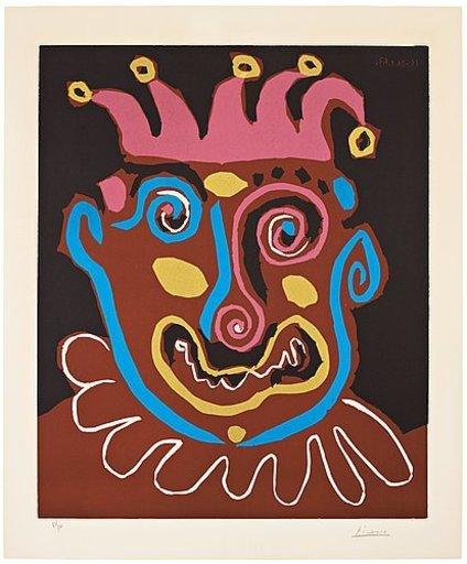 巴勃罗•毕加索 - 版画 - Le vieux roi
