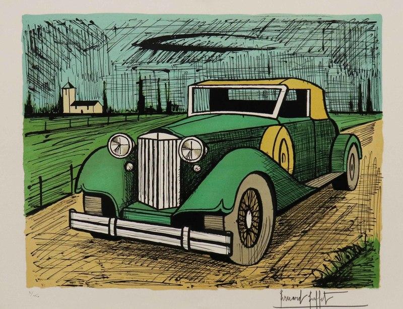 Bernard BUFFET - Print-Multiple - Packard 1934 verte