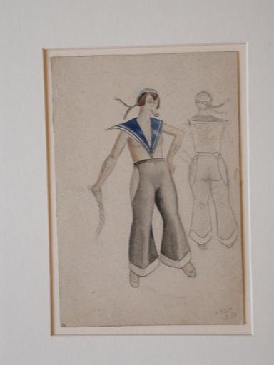 Ivan MARKOV - Dessin-Aquarelle - Costume Design for a Sailor