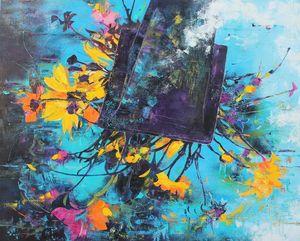 Nadine PILLON - Painting - Sens dessous