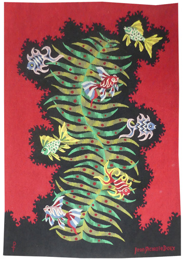 Jean PICART LE DOUX - Tapestry - Poissons-voile