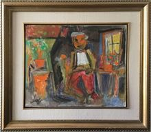 Marcel JANCO - Painting - Figur, Techniqe: Oil on Canvas. The work is signed