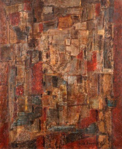 Max PAPART - Peinture - Composition, 1958-59