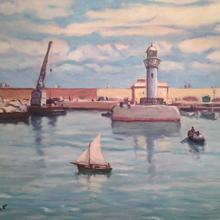 Gustave LINO - Peinture - La jetée nord Alger