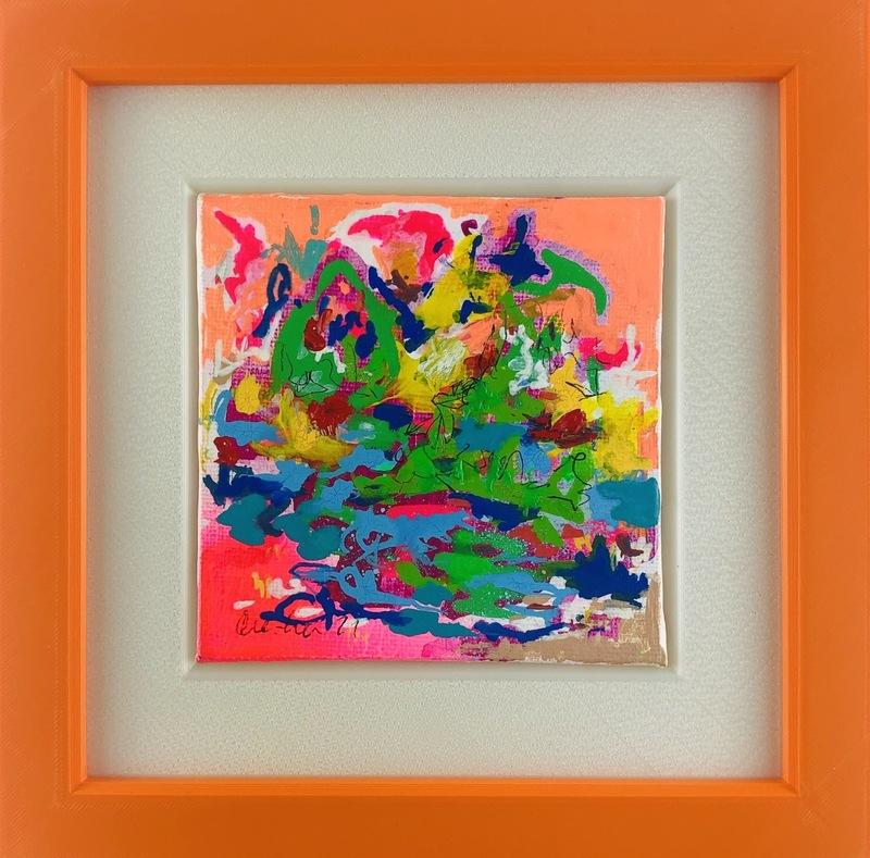 Nicole LEIDENFROST - Gemälde - Pflanzen am Teich