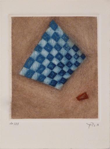Arthur Luiz PIZA - Estampe-Multiple - Damier Bleu