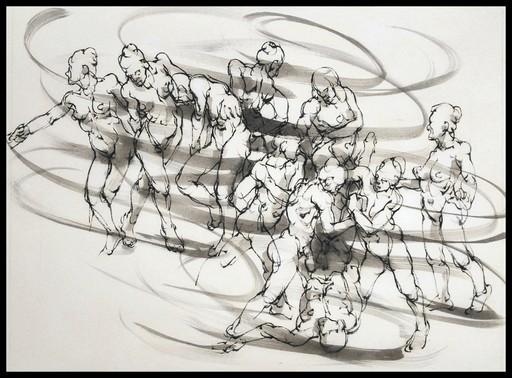 Marie TAKLANTI - Drawing-Watercolor - La ronde 3