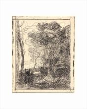 Théodore ROUSSEAU - Grabado - La Ronde Gauloise