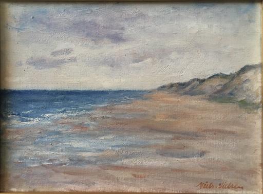 Niels NIELSEN - Gemälde - PAYSAGE DE BORD DE MER ET DUNES