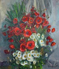 Vasil SVALJAVCIK - Pintura - Mohnblumen