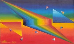 Romeo DOBROTA - Painting - Colours ... another  kind of rainbow, acrylic on canvas,