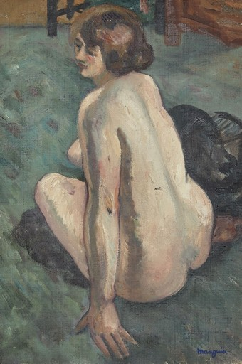 Henri MANGUIN - Painting - Grenouillette, Nu de dos