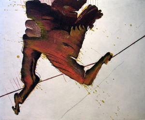 Ernst SKRICKA - Grabado - Das Seiltanzen
