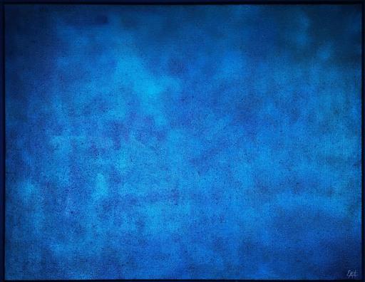 Elodie DOLLAT - Gemälde - Monochrome bleu III