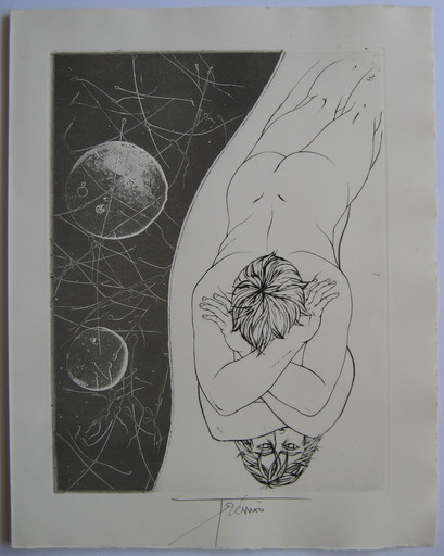 Pierre-Yves TRÉMOIS - Estampe-Multiple - GRAVURE 1970 SIGNÉE À L'ENCRE HANDSIGNED ETCHING MYTHOLOGIE