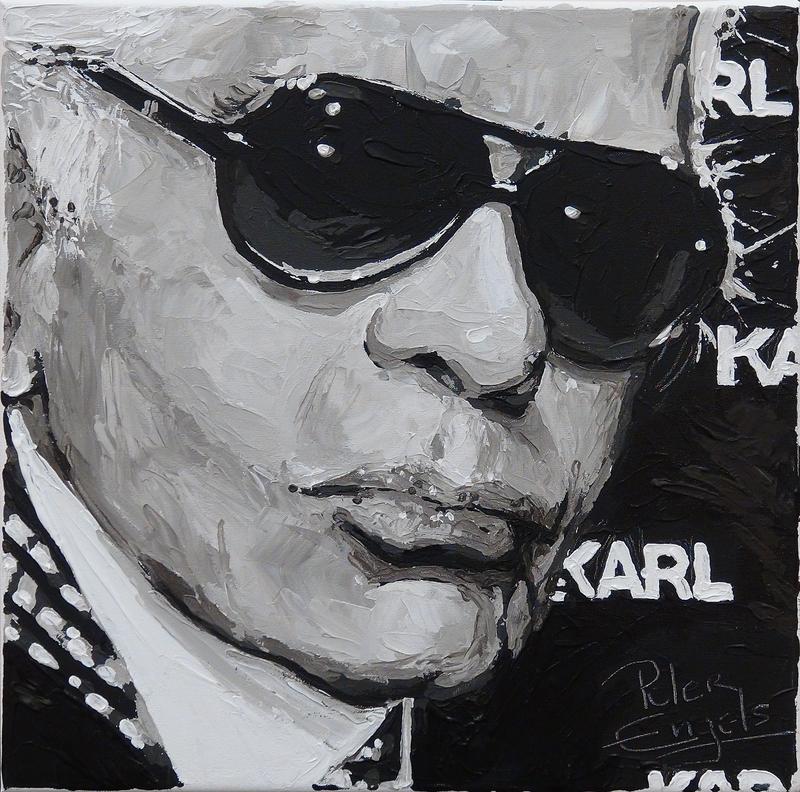 Peter ENGELS - Painting - Karl Lagerfeld