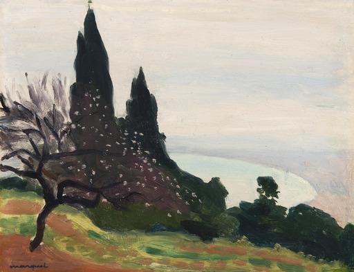 Albert MARQUET - Pintura - Brume sur la baie d'Alger