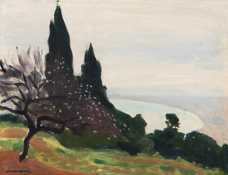 Albert MARQUET - Peinture - Brume sur la baie d'Alger