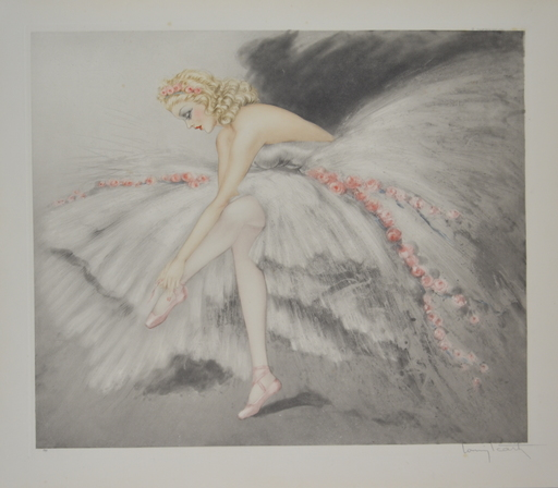 Louis ICART - Grabado - *Fair Dancers Music