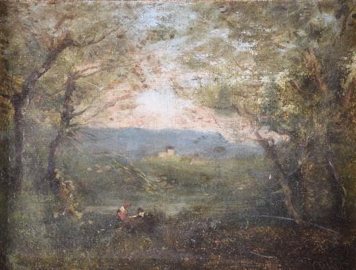 Camille Jean-Baptiste COROT - Gemälde - Mornig