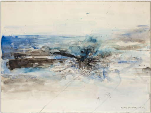 ZAO Wou-Ki - Drawing-Watercolor - Sans Titre