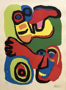 Karel APPEL - Print-Multiple - Seeing eyes