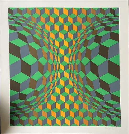 Victor VASARELY - Grabado - Victor Vasarely - cinétique 12