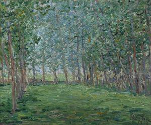 Francis PICABIA - Peinture - Champ près d'un bois