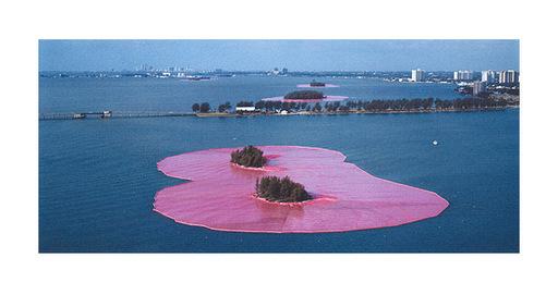 克里斯托 - 版画 - Surrounded Islands Miami
