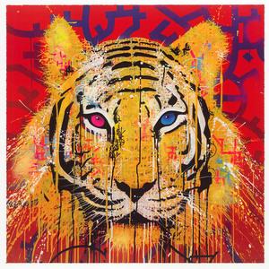 huge selection of c6fc6 51baf Pink Blue Eyes Tiger | MARKO93 | vendita d'arte online ...