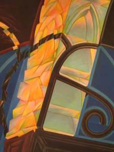 Jacques POLI - Grabado - composition aux vitraux1978.