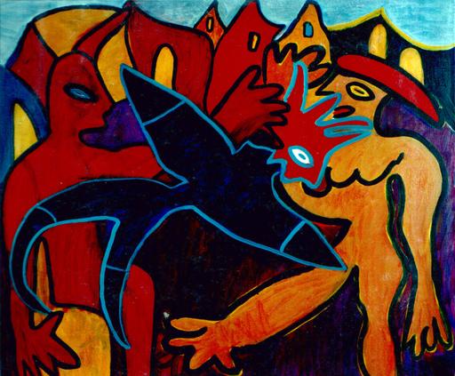 Painting - Het gevecht Nr. 3 (Cat N° 4303)
