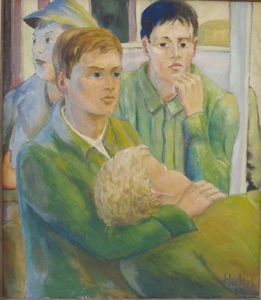 Erich HECKEL - Painting - Knaben