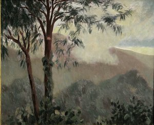 "Gabriel ROBY - Peinture - ""BRUINE SUR LA RHUNE"""