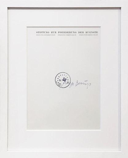 Joseph BEUYS - Grabado - Stiftung zur Förderung der Künste - Leeres Blatt